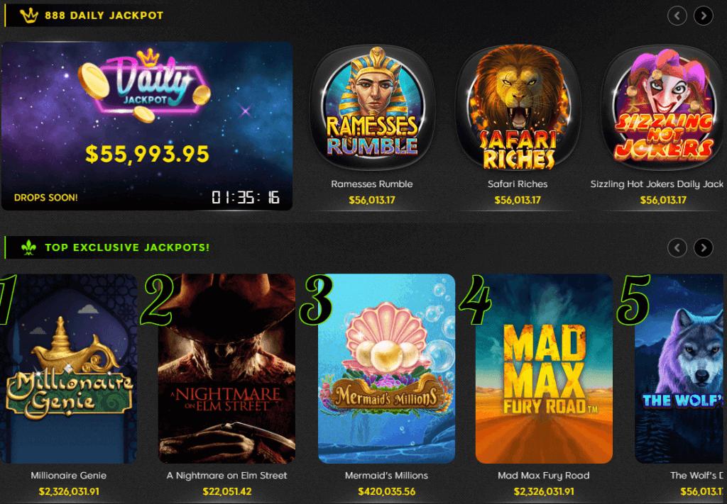 888 Casino Jackpot Slots