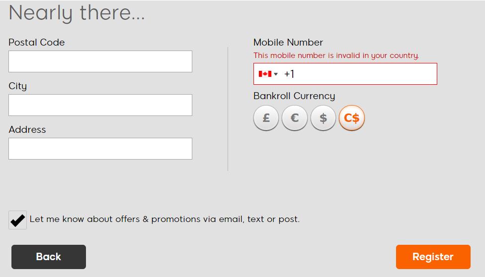 888sport registration form last section