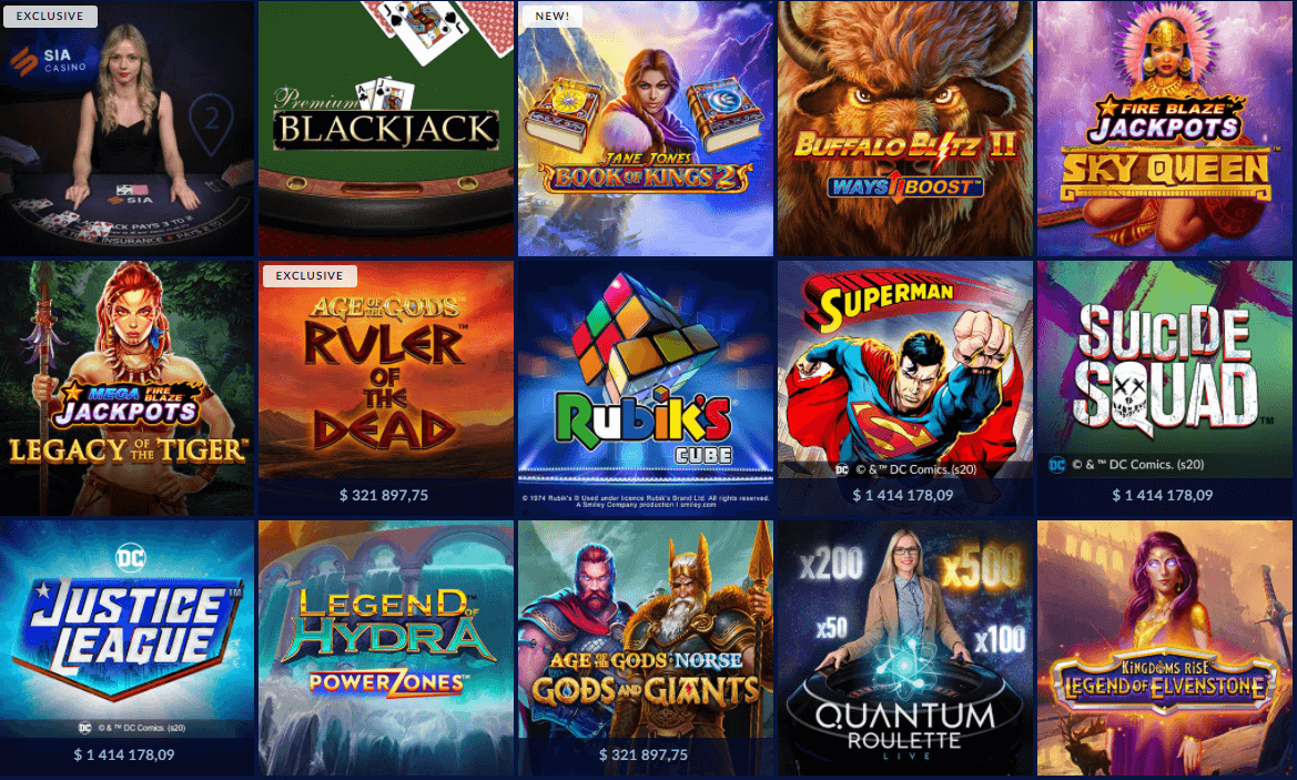 Games Available at Sia Casino