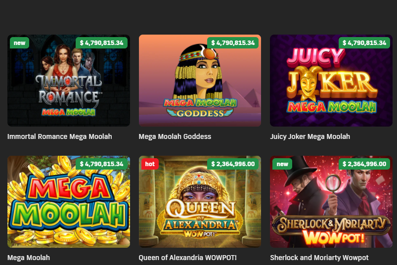 Bet99 selection of jackpot games
