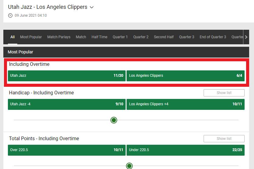 Utah Jazz vs. Los Angeles Clippers
