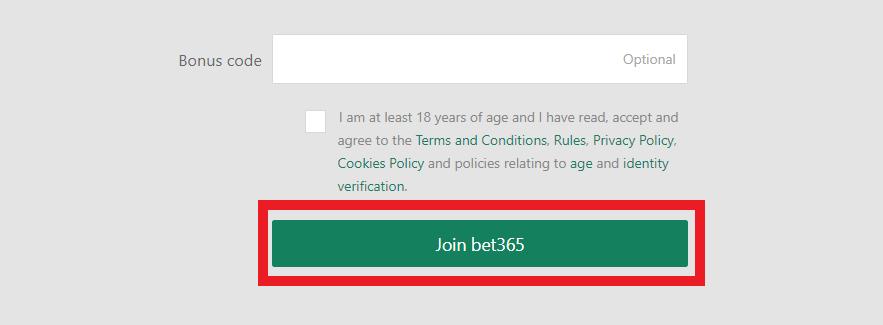 Bet365 complete registration