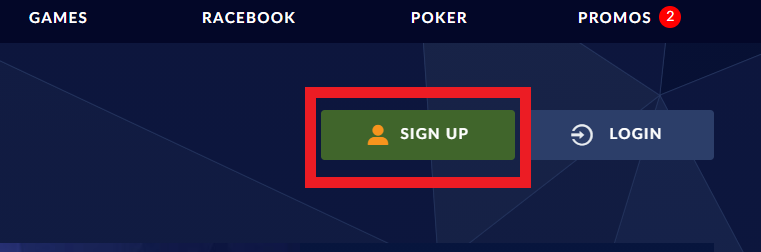 Sports Interaction Sign Up Button