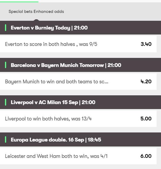 10bet enhanced odds